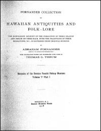 Fornander Collection of Hawaiian Antiqui... Volume 5 by Abraham Fornander