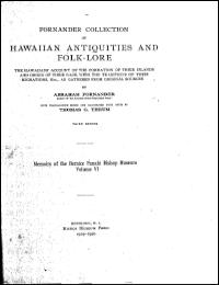 Fornander Collection of Hawaiian Antiqui... Volume 6 by Abraham Fornander