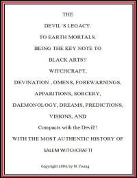 The Devil'S Legacy- to Earth Mortals. Be... by M. Young