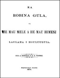 Ka Robina Gula (The Golden Robin) by Robina Gula