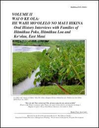 Maui Hikina, Volume Ii by Kepa Maly