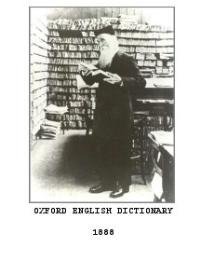 Oxford English Dictionary by James A. H. Murray