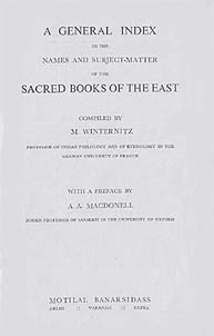 Sacred Books by M. Winternitz