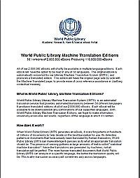 World Public Library Machine Translation... by World Public Library