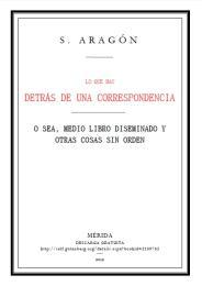 Lo que hay detrás de una correspondencia Volume 1 by Sergio Aragón