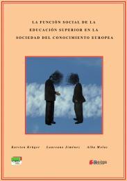 La Función Social de la Educación Superi... by Karsten Krüger & Laureano Jinénez & Alba Molas
