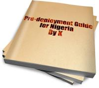 Pre-deployment to Nigeria Guide Volume 1 by Jacobus Kotze