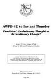 AWPD-42 to Instant Thunder : Consistent ... by James R. Cody