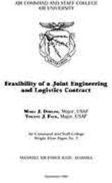 Wright Flyer Paper : Feasibility of a Jo... Volume 7 by Major Maria J. Dowling, USAF; Major Vincent J. Fec...