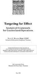 Targeting for Effect : Analytical Framew... by Major Scott G. Walker, USAF