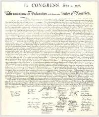 The Declaration of Independence by Thomas Jefferson, John Adams, Benjamin Franklin, R...