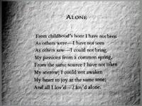 Alone by Poe, Edgar, Allan