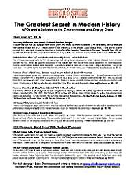 The Greatest Secret in Modern History : ... by Greer, Steven, M.