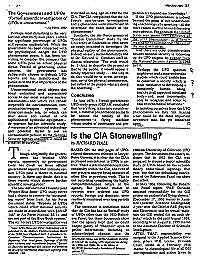 Is the CIA Stonewalling? by Hall, Richard