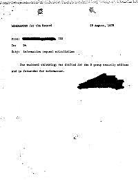 Memorandum for the Record : Information ... by USN