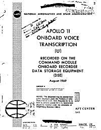 Apollo 11 Onboard Voice Transcription : ... Volume August 1969 by National Aeronautics and Space Administration, (NA...