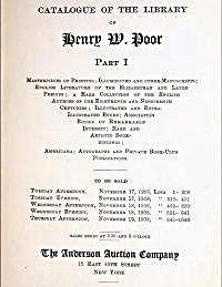 Catalogue of the Library of Henry W. Poo... by Various Authors