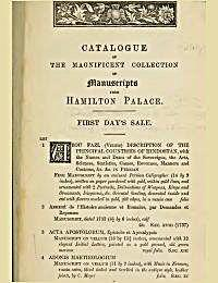 Catalogue of the Magnificent Collection ... by Duke of Hamilton, William Alexander Louis Stephen ...