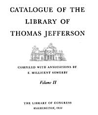 Catalogue of the Library of Thomas Jeffe... by Sower, E. Millicent