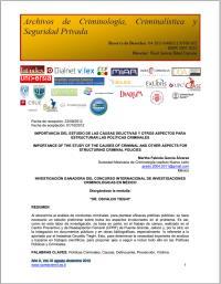 Reseña a: Condición femenina y delincuen... Volume XI, August-December 2013 by Sánchez , Carlos , García-Saavedra, Dr.