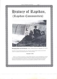 History of Rapidan : Rapidan Communities by Shotwell, Alan, James, Dr.