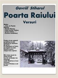 Poarta Raiului : Versuri by Stiharul, Gavriil