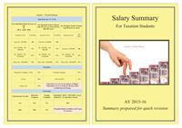 Salary Summary : For Taxation Students by Kikani, Pratik, Kaushikkumar