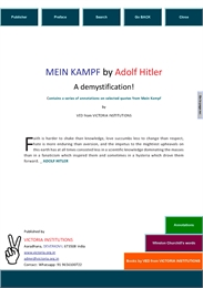 Mein Kampf by Adolf Hitler - A Demystifi... by Ved from Victoria Institutions