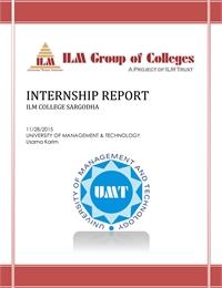 Internship Report on ILM College (Sargod... by Karim, Usama