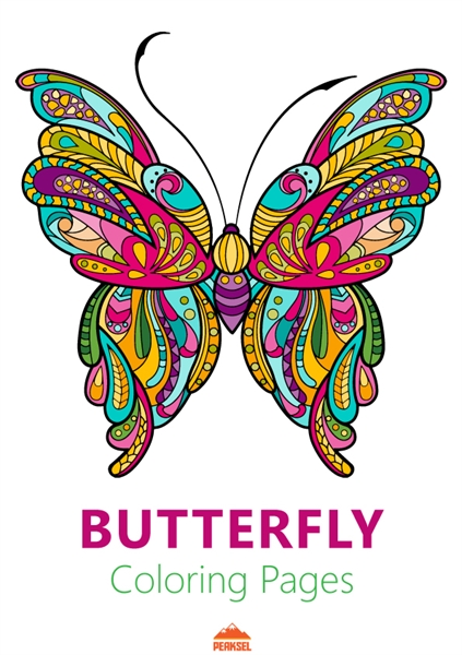 Butterfly Coloring Pages : Coloring Book... by Petkovic, Marko