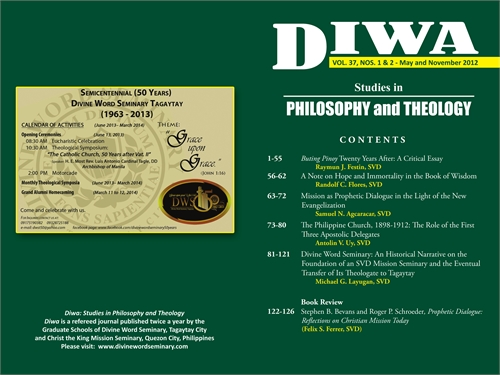 DIWA : Studies in Philosophy and Theolog... by Flores, Randolf, Carino, Ph.D.