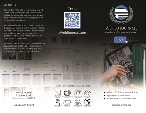 World Journals : Marketing Brochure by World Library Foundation