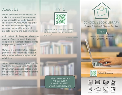 School eBook Library Brochure US by Foundation, World, Library