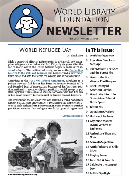 World Library Foundation Newsletter : Ju... by World Library Foundation